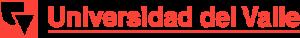 Logo Rojo de la Universidad del Valle Versión Horizontal